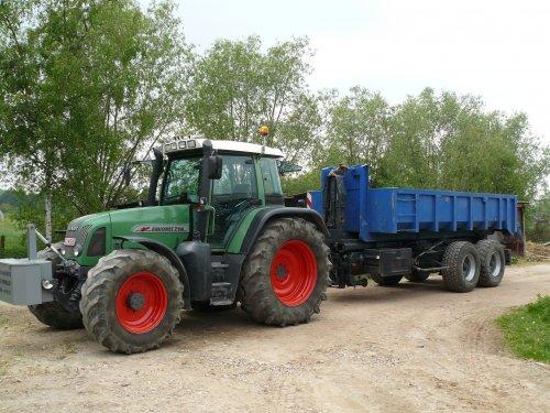 Foto van een Fendt 714 met een 23 tons containersysteem.. Geplaatst door fendt-714 op 26-02-2011 om 20:50:43, met 3 reacties.