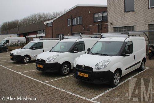 Foto van een Fiat Doblo, opgebouwd met gesloten opbouw.. Geplaatst door Alex Miedema op 23-03-2019 om 14:09:28, op TractorFan.nl - de nummer 1 tractor foto website.