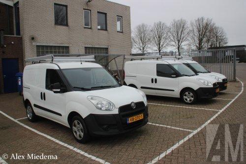 Foto van een Fiat Doblo, opgebouwd met gesloten opbouw.. Geplaatst door Alex Miedema op 23-03-2019 om 14:09:29, op TractorFan.nl - de nummer 1 tractor foto website.