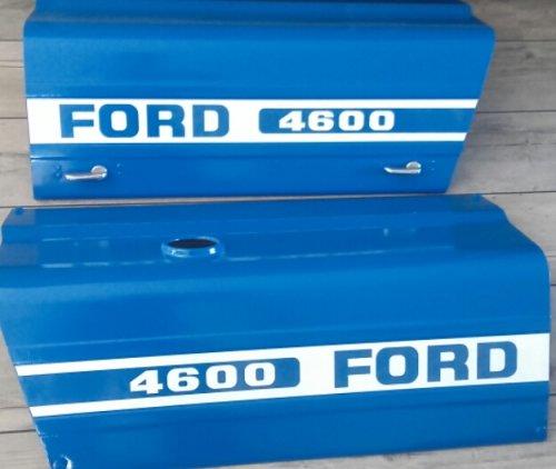 Vandaag de motorkap stickers voor de Ford 4600 aangebracht. Ook dat is nu gereed voor montage aan de tractor.