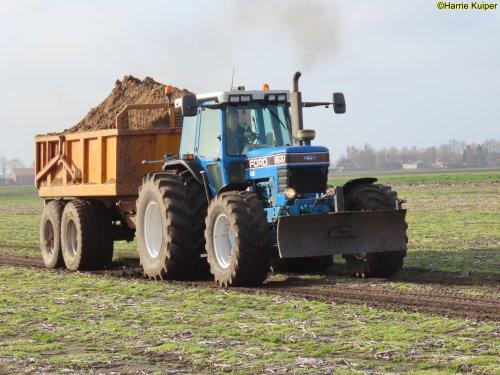 Foto van een Ford 8630 aan het zandrijden op 3 april 2021 te Gasselternijeveen.. Geplaatst door oldtimergek op 04-04-2021 om 10:04:47, met 13 reacties.