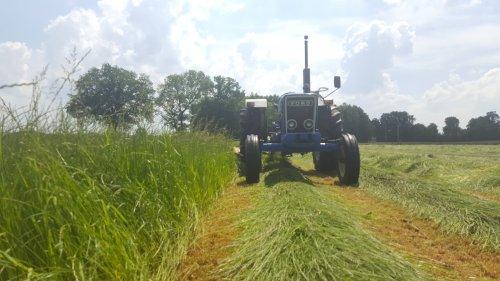 Foto van een Ford 4600 druk bezig met maaien. Geplaatst door Fordje4600 op 07-06-2016 om 20:20:57, op TractorFan.nl - de nummer 1 tractor foto website.