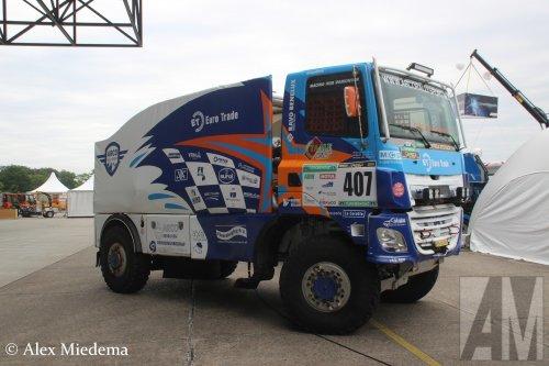 Stichting Arco Rallysport (Poortugaal) × op de foto met een GINAF X2222, opgebouwd als rallytruck.. Geplaatst door Alex Miedema op 06-06-2019 om 12:53:34, op TractorFan.nl - de nummer 1 tractor foto website.