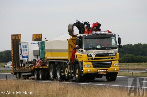 Foto van een Ginaf X4343-LS, opgebouwd als dumper / kipper.. Geplaatst door Alex Miedema op 09-12-2014 om 19:13:49, op TractorFan.nl - de nummer 1 tractor foto website.