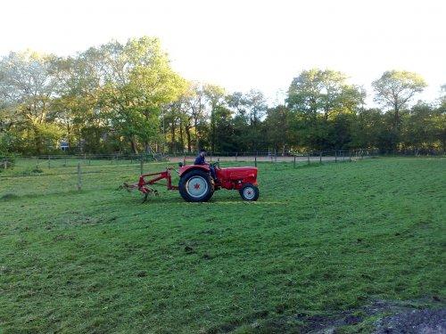 Foto van een Guldner G30S, bezig met gras schudden.. Geplaatst door Palletje op 04-06-2010 om 10:18:00, op TractorFan.nl - de nummer 1 tractor foto website.