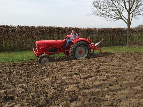 Guldner G45S PLOEGEN MET HET MERK GOUDLAND.. Geplaatst door Heiford op 06-04-2016 om 16:25:43, op TractorFan.nl - de nummer 1 tractor foto website.