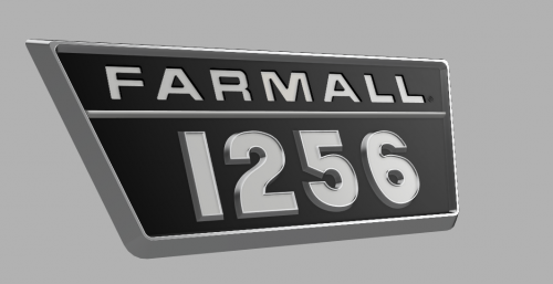 Imitatie emblemen van de 1256 en 1456 zijn niet meer te krijgen. Goede originele zijn ook heel moeilijk te vinden. Daarom proberen met een 3D-printer. Dit is het 2de ontwerp. Hier moeten de foutjes ook nog uitgehaald worden tot je bij een zo 'echt' mogelijk resultaat komt.