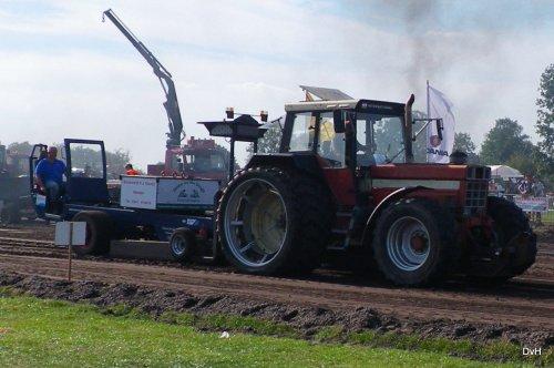 Foto van een International 1455, Uutkiekdag Nijkerkerveen 2016. Geplaatst door janklaas36 op 11-09-2016 om 21:46:47, op TractorFan.nl - de nummer 1 tractor foto website.