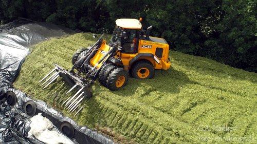 Loonbedrijf de Bruin aan Tiel aan het kuilen met een JCB Shovel. Geplaatst door gypCaseXL op 03-06-2019 om 07:33:26, op TractorFan.nl - de nummer 1 tractor foto website.
