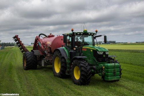 John Deere 6195R van LandbouwLeistra
