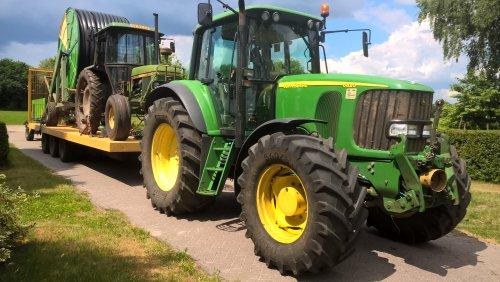 Foto van een John Deere 6820. Geplaatst door adriaan33 op 04-06-2017 om 13:03:03, op TractorFan.nl - de nummer 1 tractor foto website.