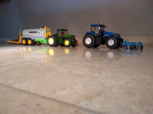 Landbouw miniaturen 1:32 John Deere van case en international 1455xl
