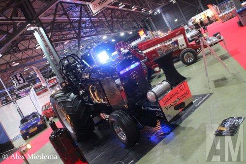 Foto van een John Deere Tractorpulling  Meer foto's van Racing Expo 2019 op https://www.alexmiedema.nl/2019/01/26/racing-expo-2019/