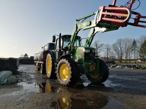 Foto van een John Deere 6145M. Geplaatst door Rickwagter op 19-01-2020 om 17:53:40, op TractorFan.nl - de nummer 1 tractor foto website.