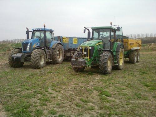Foto van een John Deere 7720 same met t8020. Geplaatst door alhmann-johndeere op 14-04-2011 om 19:14:55, op TractorFan.nl - de nummer 1 tractor foto website.