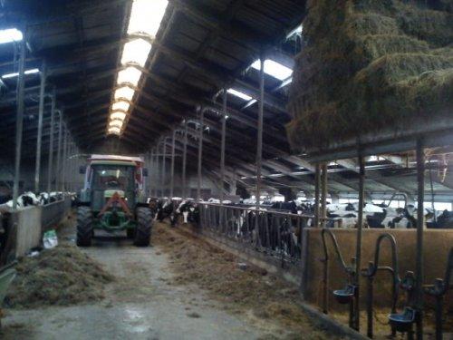Foto van een John Deere 6010 Serie, bezig met voeren.. Geplaatst door TomJD op 12-02-2012 om 17:18:00, op TractorFan.nl - de nummer 1 tractor foto website.