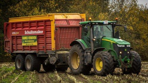 Hannes Verboven, voor landbouwer Bens uit Geel, in Tessenderlo. Geplaatst door Bengo op 08-11-2015 om 02:05:03, op TractorFan.nl - de nummer 1 tractor foto website.