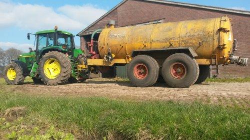 Foto van een John Deere 6506. Geplaatst door Kleine loonwerker op 13-03-2016 om 18:24:37, op TractorFan.nl - de nummer 1 tractor foto website.
