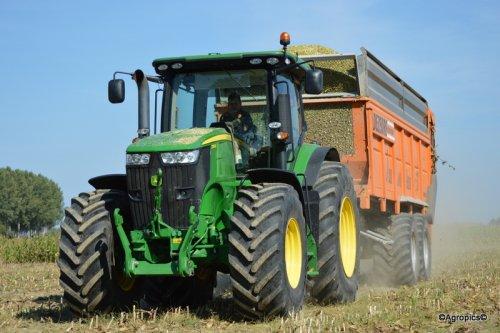 John Deere 7280R met Dezeure Silocruiser van Glenn Van Loo!. Geplaatst door KennyT op 25-09-2016 om 10:20:38, op TractorFan.nl - de nummer 1 tractor foto website.