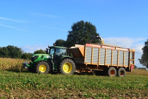 Gebr Geudens aan het mais hakselen. Geplaatst door jd7920 op 11-10-2016 om 19:19:47, op TractorFan.nl - de nummer 1 tractor foto website.