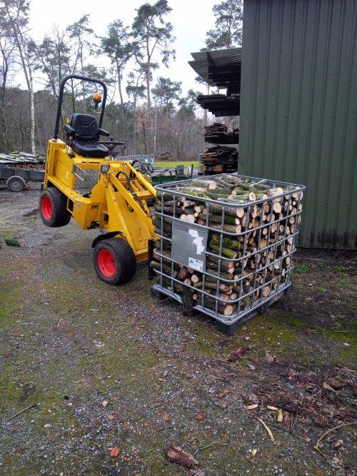 Knikmops 90 dagje takhout verzagen en optasten, ibc kooi nat hout kan hij net heffen laag aan de grond.