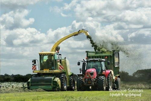 Er waait een stevig windje als het gras in de Ooij gehakselt wordt. Geplaatst door Lifestyle & Agrifotografie op 25-06-2018 om 14:34:05, op TractorFan.nl - de nummer 1 tractor foto website.