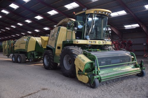 1 van de Krone's van Skamstrup.. Geplaatst door Hette op 23-08-2018 om 17:14:44, op TractorFan.nl - de nummer 1 tractor foto website.