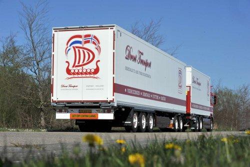 Krone oplegger van Truckfan Nieuwsposter