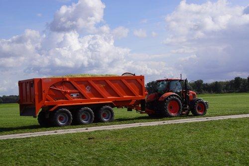 Foto van een Kubota M7.151. Geplaatst door jans-eising op 09-11-2018 om 19:14:43, op TractorFan.nl - de nummer 1 tractor foto website.