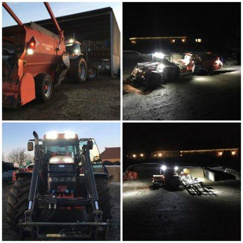 Langer doorwerken met led werklampen. Geplaatst door Werkenbijlicht op 05-02-2017 om 13:36:16, op TractorFan.nl - de nummer 1 tractor foto website.