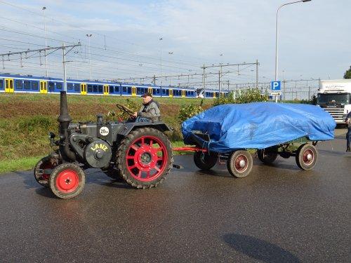 Foto van een Lanz Bulldog Onbekend Bokbierdag Zutphen 13 oktober 2019.. Geplaatst door dickt op 21-10-2019 om 11:30:05, op TractorFan.nl - de nummer 1 tractor foto website.