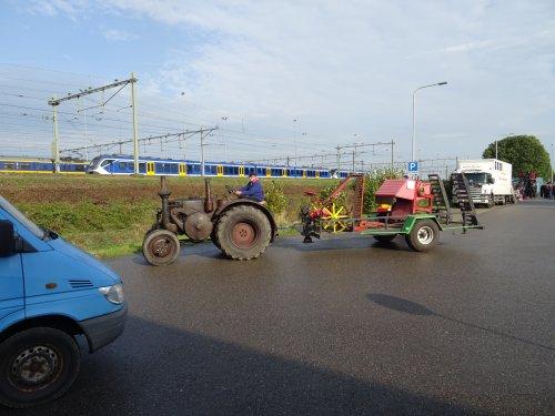Foto van een Lanz Bulldog Onbekend Bokbierdag Zutphen 13 oktober 2019.. Geplaatst door dickt op 21-10-2019 om 11:30:34, op TractorFan.nl - de nummer 1 tractor foto website.