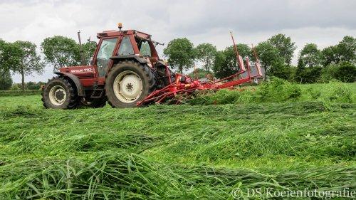 Foto van een Lely lotus stabilo 900+, bezig met gras schudden.. Geplaatst door Fiat110-90 DT op 03-06-2015 om 13:18:17, op TractorFan.nl - de nummer 1 tractor foto website.