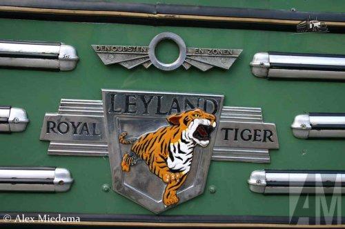HTM (Haagse Tramweg Maatschappij) op de foto met een Leyland Royal Tiger, opgebouwd voor personenvervoer.