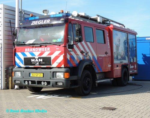 Foto van een MAN M2000, opgebouwd als brandweer.. Geplaatst door René op 24-07-2018 om 14:21:59, op TractorFan.nl - de nummer 1 tractor foto website.