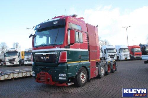 Foto van een MAN TGX 1st gen, opgebouwd voor speciaal transport. Meer info op https://www.kleyntrucks.com/nl/voertuig/gegevens/264687