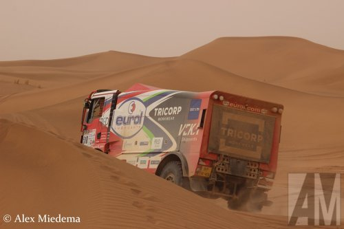 Kijk, daar heb je VeKa Group (EVM Rallyteam) (Werkendam) × met een MAN TGS 2nd gen, opgebouwd als rallytruck.