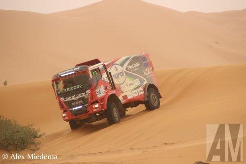 Hier zie je VeKa Group (EVM Rallyteam) (Werkendam) × met een MAN TGS 2nd gen, opgebouwd als rallytruck.
