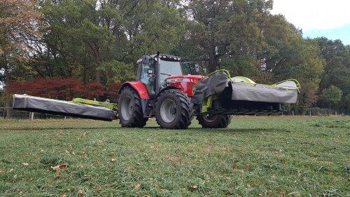 Foto van een Massey Ferguson 6475 Dyna-6 waarschijnlijk laatste keer voor dit jaar gazon maaien.. Geplaatst door loki0134 op 11-10-2018 om 20:20:58, op TractorFan.nl - de nummer 1 tractor foto website.