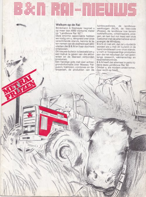 Foto van een Massey Ferguson 2000-serie folder van BRINKMAN en NIEMEYER . RAI 1982. Geplaatst door David Bakker op 23-01-2021 om 16:17:03, met 2 reacties.