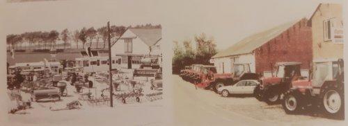 Foto van een Massey Ferguson Meerdere 2 foto,s van een machine show bij Verlinde . links jaren 60 denk ik en de rechtse was in dde zomer toen de 3100 serie werd geintroduceerdt  dacht ik .