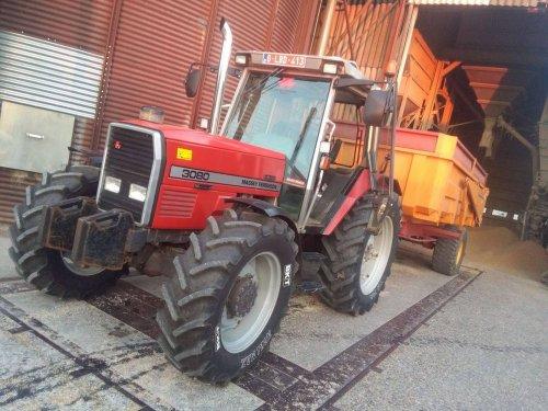 Foto van een Massey Ferguson 3080. Graan leveren ;). Geplaatst door Tim-MF3080 op 23-08-2016 om 00:20:35, op TractorFan.nl - de nummer 1 tractor foto website.