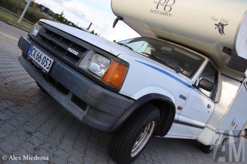 Foto van een Mazda B-serie, opgebouwd voor personenvervoer.. Geplaatst door Alex Miedema op 18-09-2019 om 18:58:28, op TractorFan.nl - de nummer 1 tractor foto website.