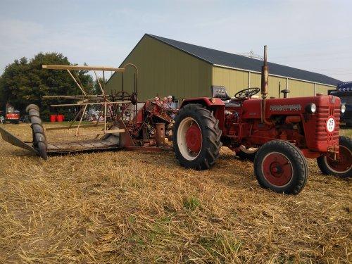 Foto van een Mc-Cormick D 324 met getrokken maaibord. Oogstdag in tinte 26-08-2017. Geplaatst door mklok op 29-08-2017 om 09:52:59, op TractorFan.nl - de nummer 1 tractor foto website.