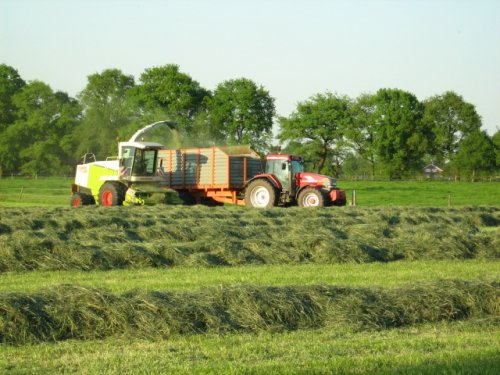 Foto van een Mc-Cormick MTX 200, bezig met gras hakselen.. Geplaatst door case mx170 op 25-05-2008 om 00:25:10, op TractorFan.nl - de nummer 1 tractor foto website.