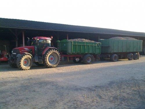Foto van een Mc-Cormick MTX 150, bezig met aardappels transport.. Geplaatst door puma-cvx-160 op 25-12-2010 om 22:20:43, met 12 reacties.