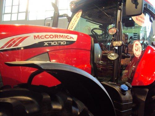 Foto van een Mc-Cormick X70.70, bezig met poseren. Verplaatsen naar X70.70 (stond er niet bij) deze was te zien op de agribex