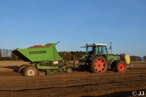 Aardappels poten met een Fendt 311 en Miedema Structural 20.. Geplaatst door JJ op 28-03-2017 om 21:57:13, op TractorFan.nl - de nummer 1 tractor foto website.