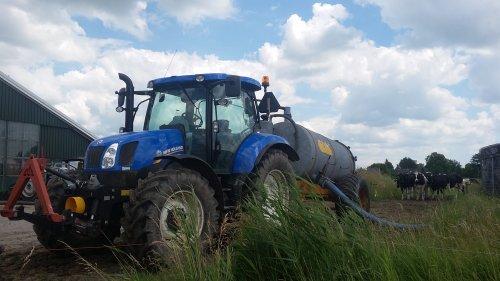 Foto van een New Holland T 6.140 van VOF A.J & I van den Bergh. Geplaatst door NHPowersz op 11-03-2017 om 14:53:55, op TractorFan.nl - de nummer 1 tractor foto website.