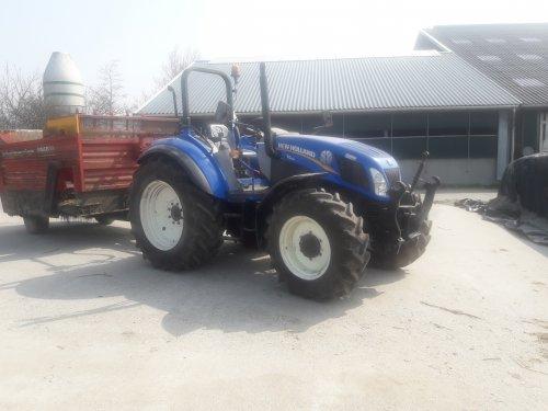 Foto van een New Holland T 4.85. Geplaatst door Sinnema op 11-04-2018 om 08:16:46, op TractorFan.nl - de nummer 1 tractor foto website.